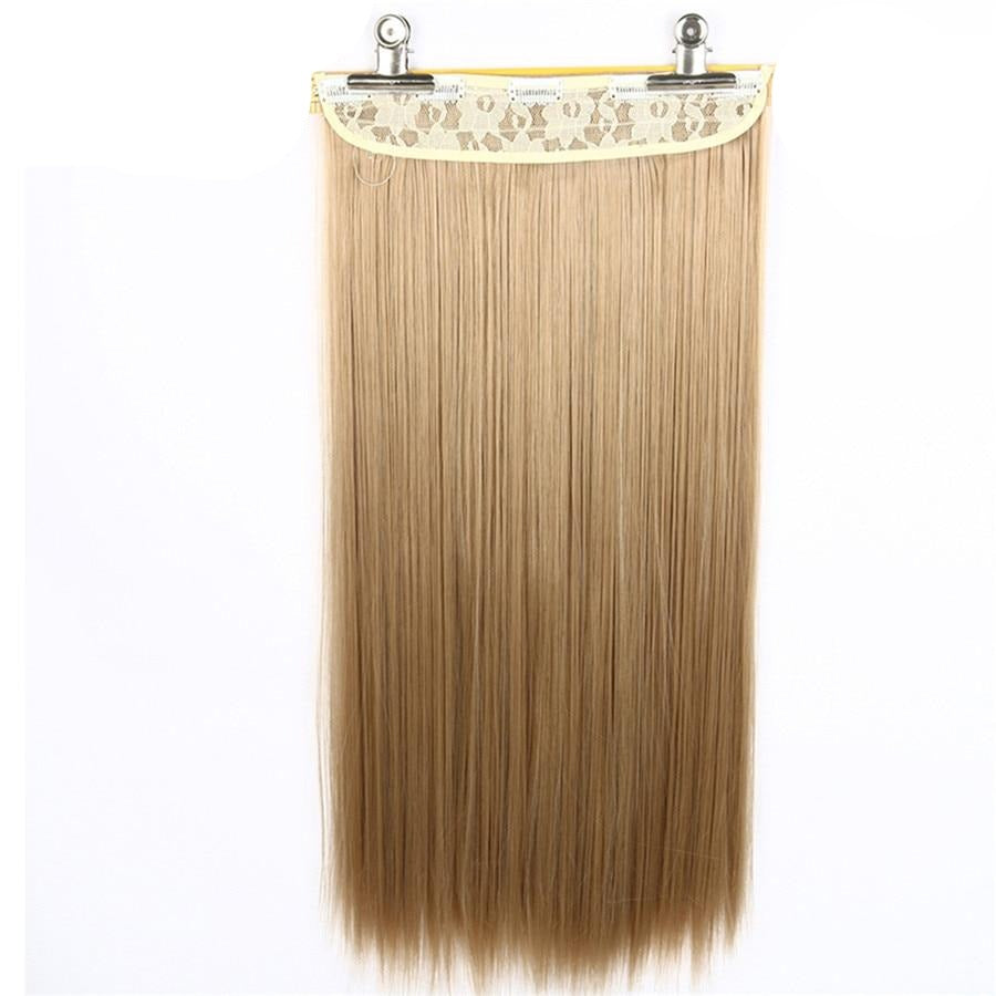 Wig one piece of synthetic clip