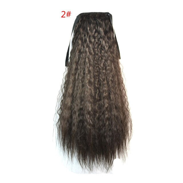 Kinky Curly Synthetic Hair Ribbon Ponytail