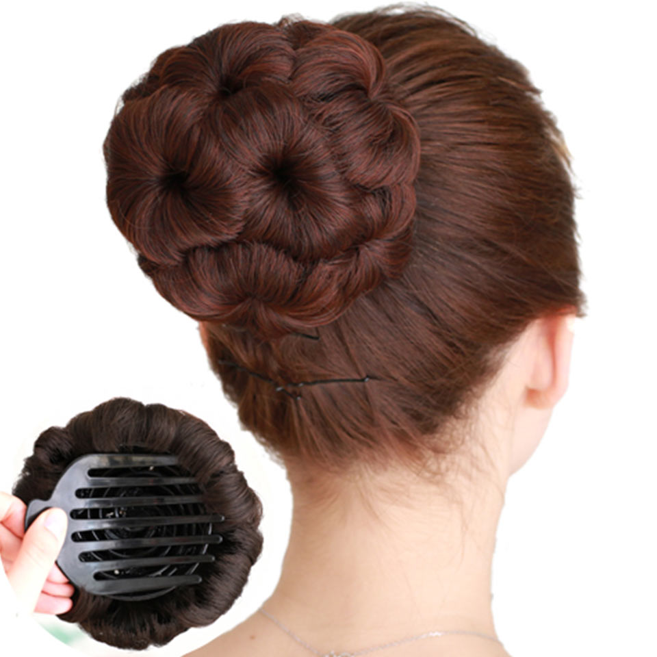 Synthetic Curly Chignon Bun Hairpiece