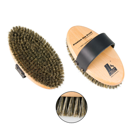 Leistner Natural Bristle Premium Dog Brush Medium