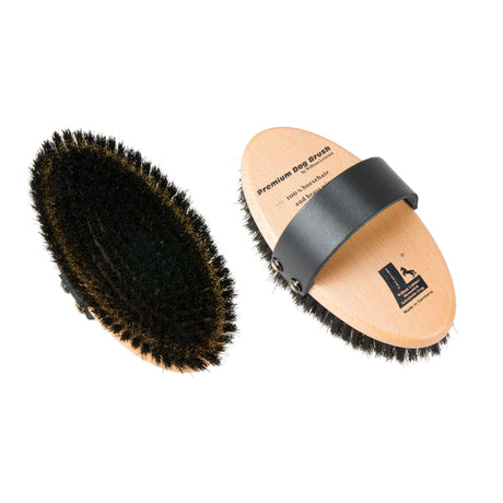 Leistner Natural Bristle Premium Dog Brush with Horse Hair and Wire Medium