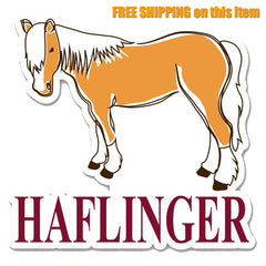 Haflinger Die-Cut Vinyl Sticker