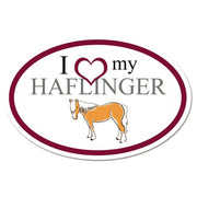 I Love My Haflinger Oval Vinyl Sticker