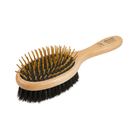Leistner Two-Sided Mane & Tail Brush with Wooden Pins