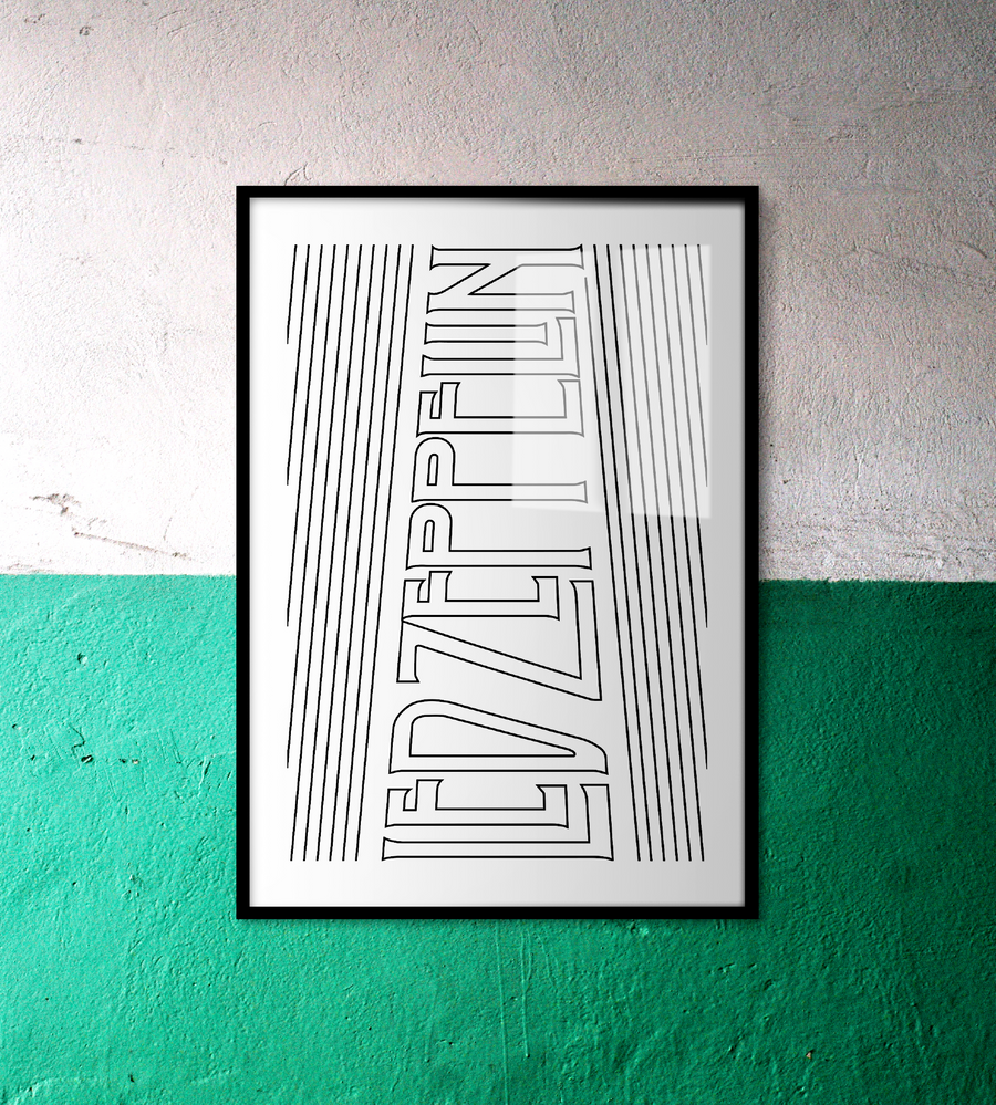 Led Zeppelin Wall Art | White Edition