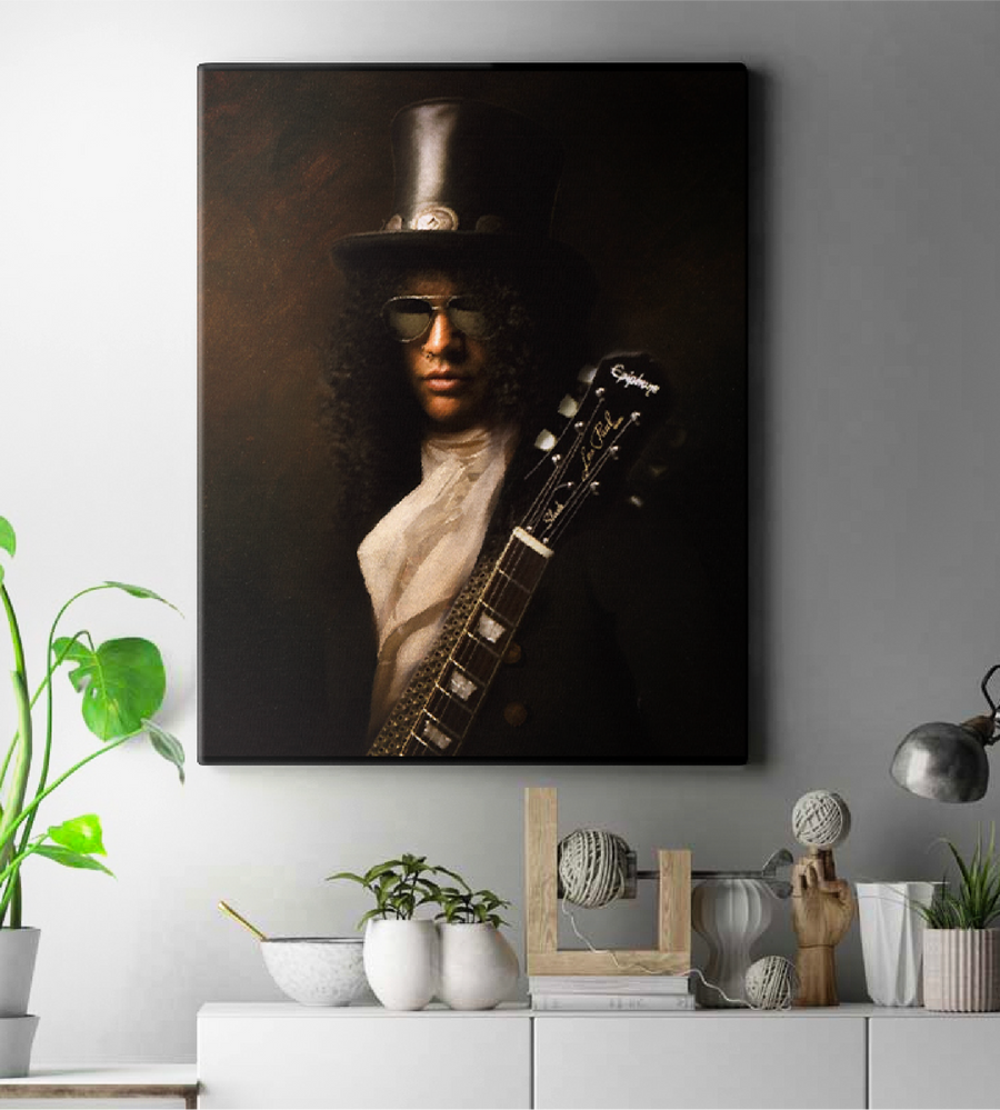 Slash Guns N' Roses Painting Wall Art