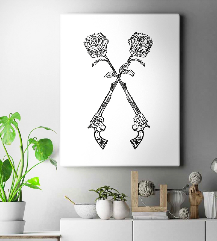 Guns N' Roses Mood Style Wall Art | White Edition