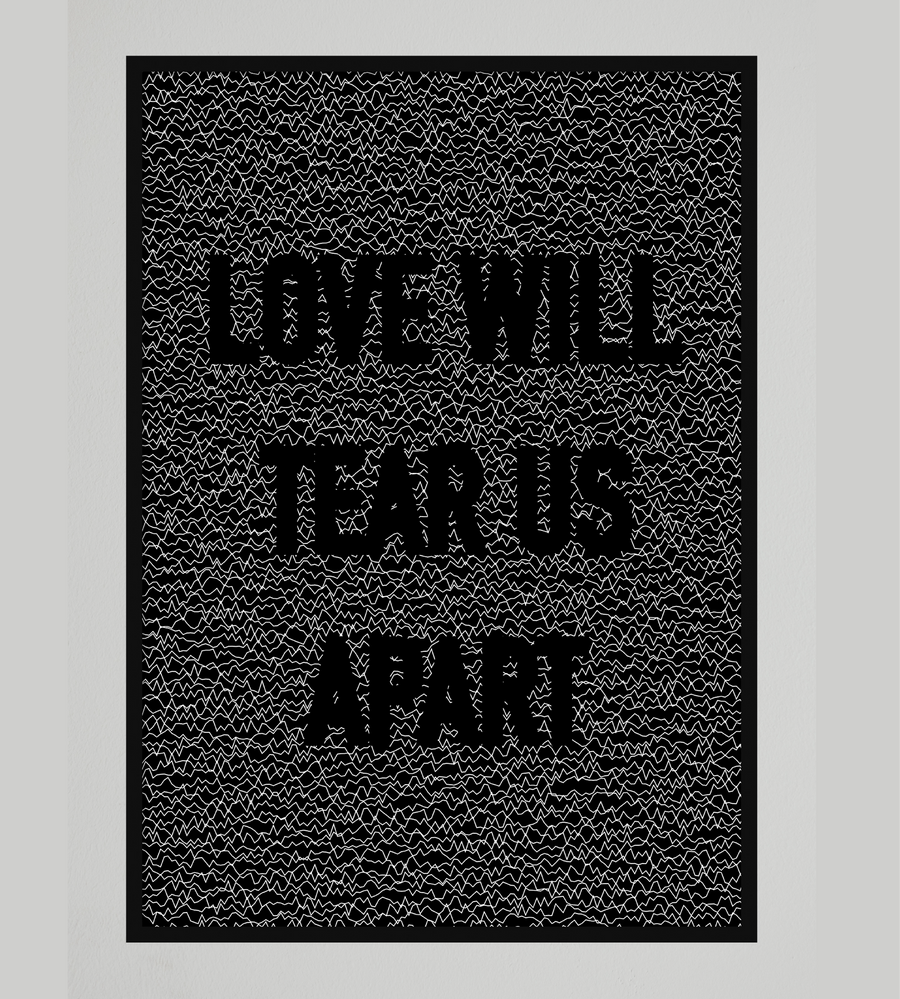 Joy Division Love Will Tear Us Apart Wall Art