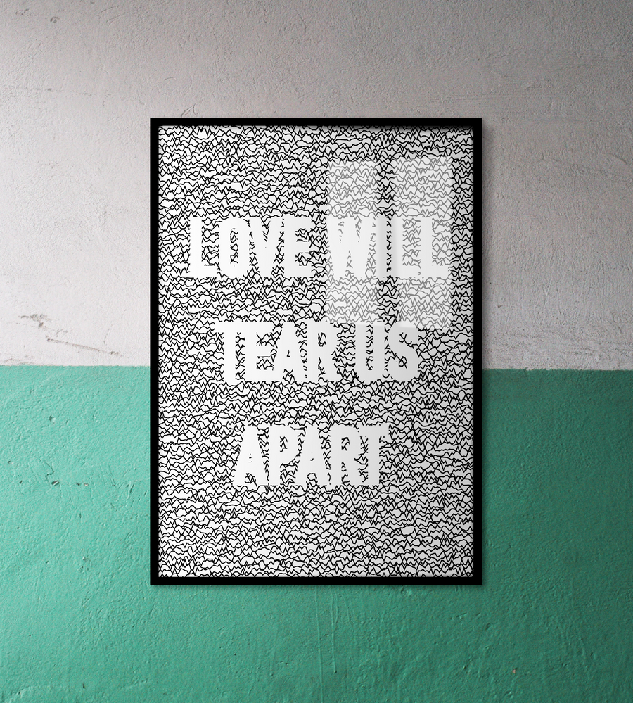 Joy Division Love Will Tear Us Apart Wall Art | White Edition