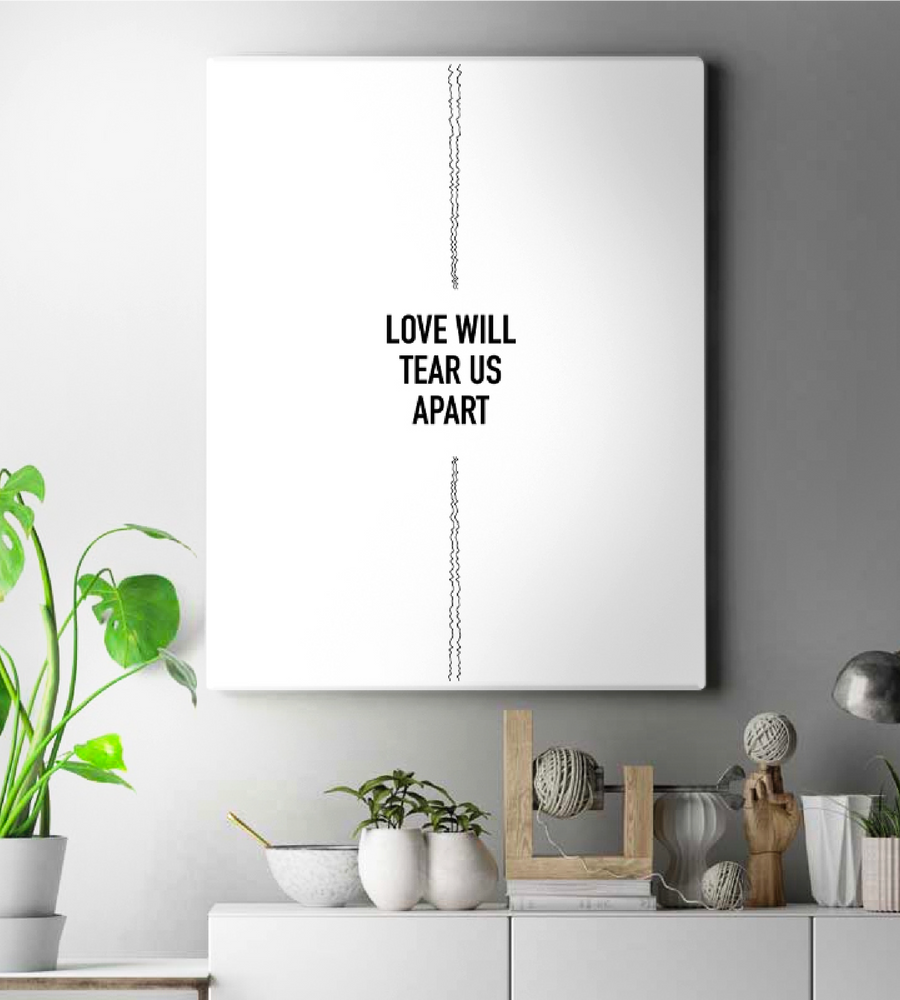 Joy Division Love Will Tear Us Apart V2 Wall Art | White Edition