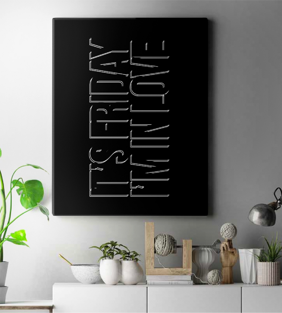 The Cure Friday I'm In Love Wall Art