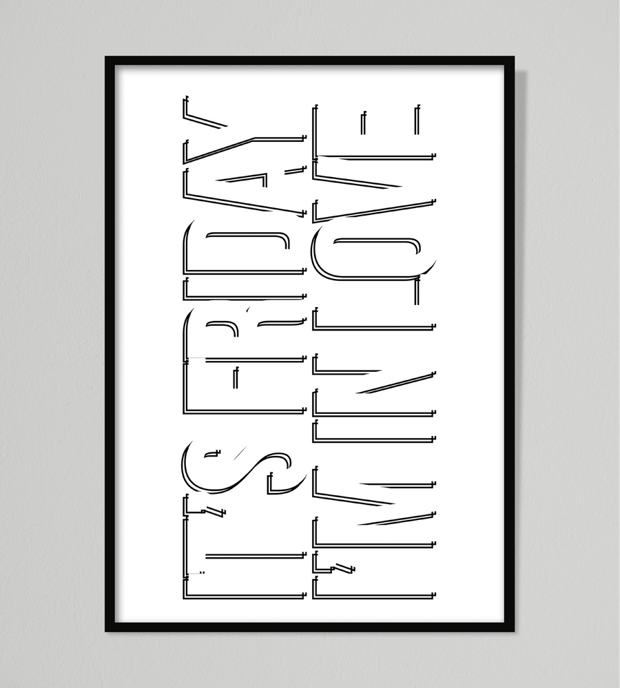The Cure Friday I'm In Love Wall Art | White Edition