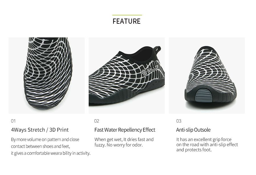 Skin Fit V2 Water Shoes Sleam Spider Silver