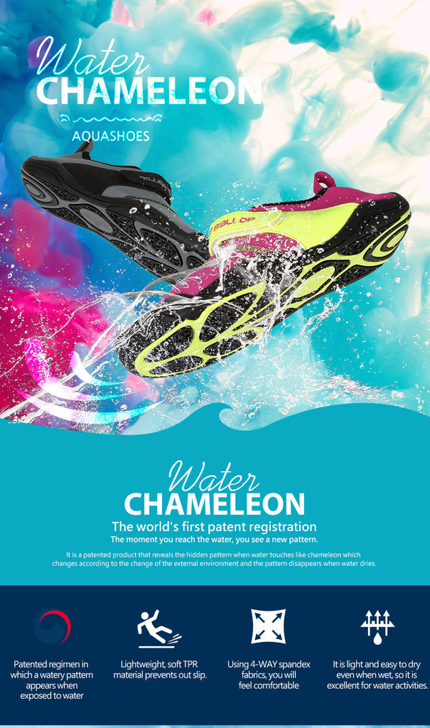 Water Chamelon Shoes Hide Pink