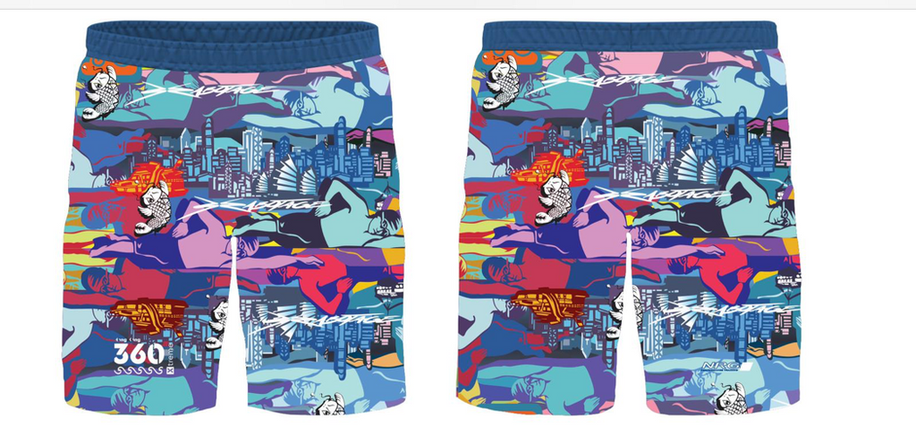 HK360Xtreme x Szabotage Limited Edition Handsome Beach Shorts