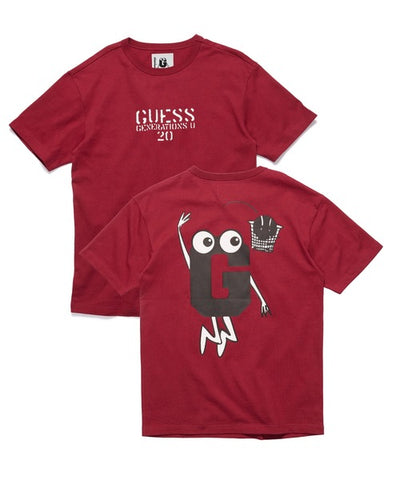 [GUESS x GENERATIONS] LOGO SHORT SLEEVE TEE WINE - Guess