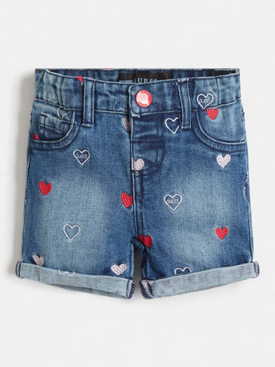 EMBROIDERY DENIM SHORT - Guess