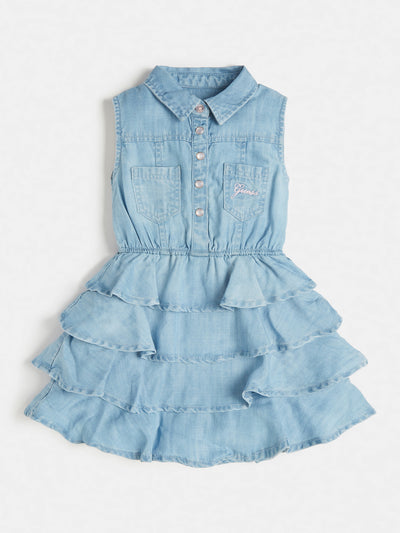 DENIM RUFFLES DRESS - Guess