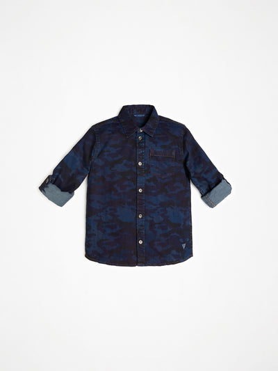 CAMOUFLAGE DARK JEANS SHIRT - Guess