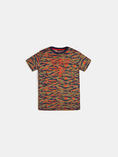 ALL OVER PRINT FRONT LOGO T-SHIRT - Guess