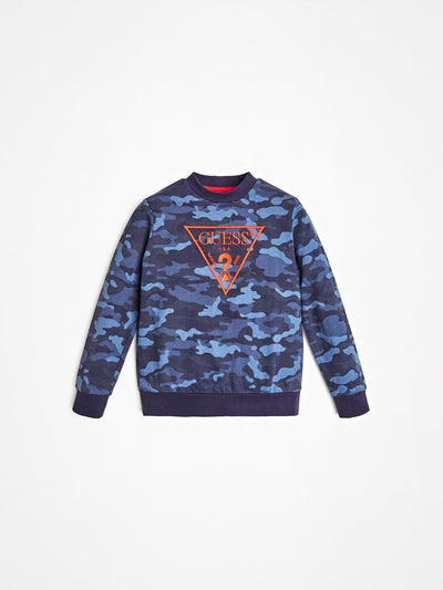 ALL OVER PRINT LOGO SWEATSHIRT - Guess