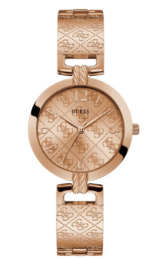 G LUXE LADIES DRESS ROSE GOLD COLOUR - Guess