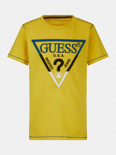 EMBROIDERY FRONT LOGO T-SHIRT - Guess