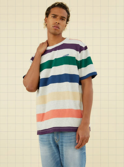 GUESS ORIGINALS MULTICOLOR STRIPED TEE - Guess