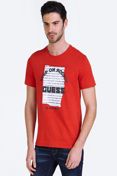 PRINTED LOGO T-SHIRT - Guess