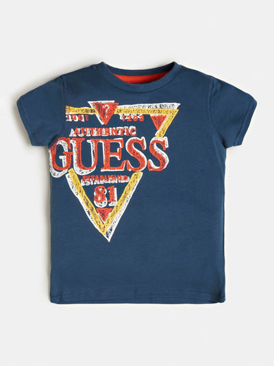 TRIANGLE LOGO JERSEY T-SHIRT - Guess