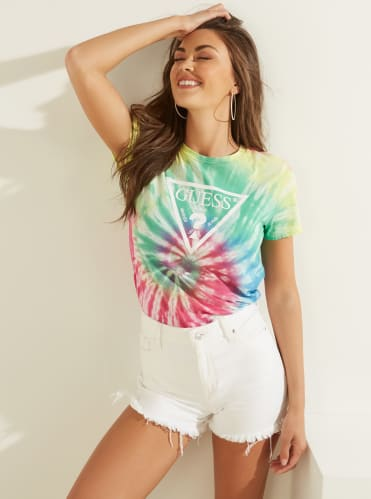 TIE-DYE TRIANGLE LOGO T-SHIRT - Guess