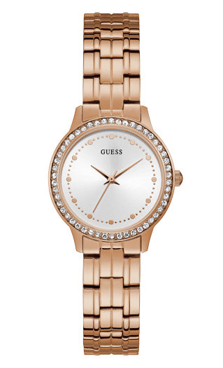 CHELSEA LADIES DRESS ROSE GOLD COLOUR - Guess