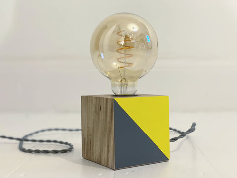 Cube Lamp Base [Yellow & Grey]