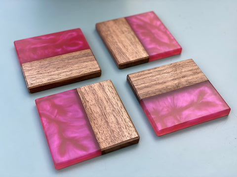 Walnut & Resin Coasters