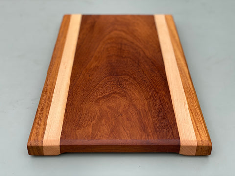 Iroko & Maple Strip Chopping Board