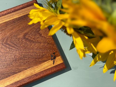 Iroko & Sapele Strip Chopping Board