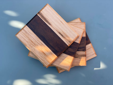 Walnut & Maple Block Coasters
