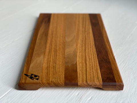 Oak & Walnut Strip Chopping Board