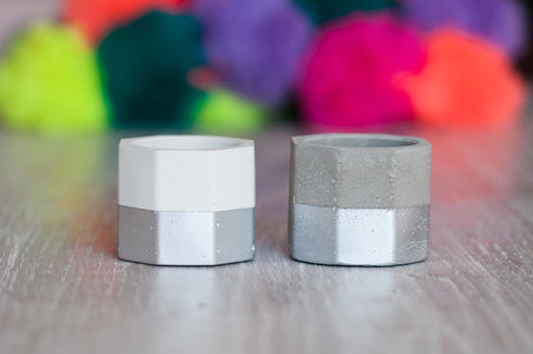 Concrete Tea Light Holders [Set of 3]