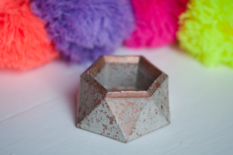 Hexagon Concrete Pot