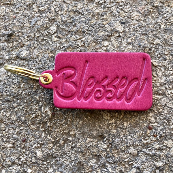 """BLESSED"" KEY TAG"
