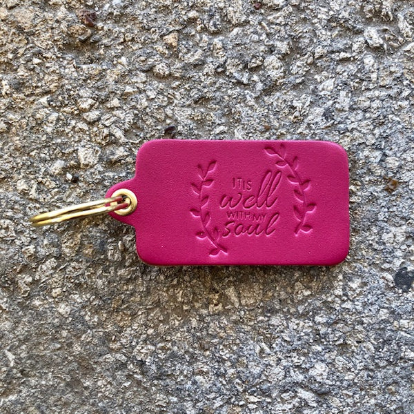 """IT IS WELL WITH  MY SOUL"" KEY TAG"