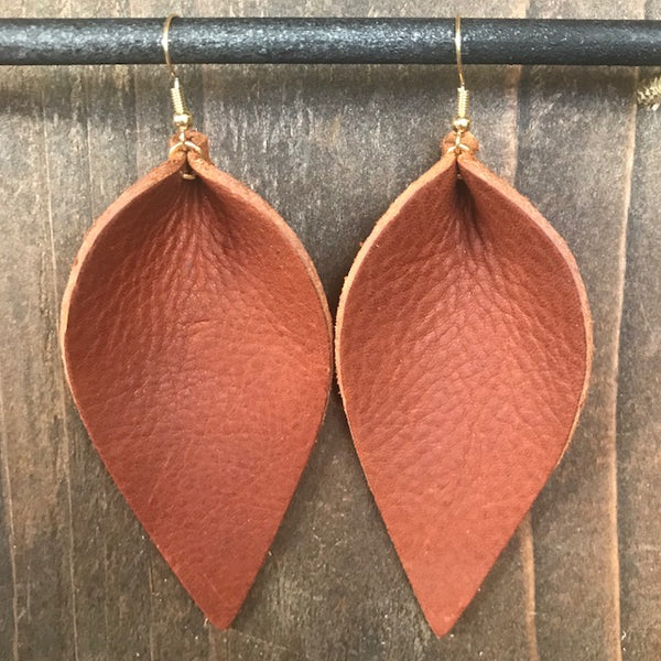 BISON SINGLE LEAF EARRINGS