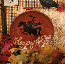 DTS-SHP Sleepy Hollow Redware Plate