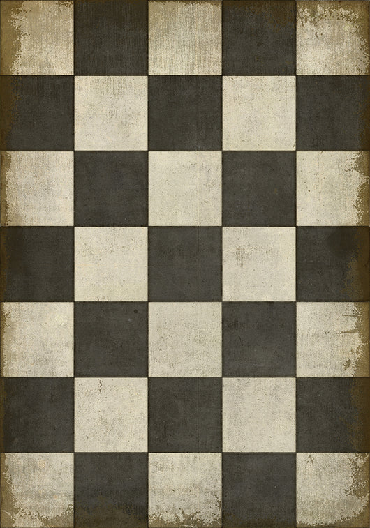 Lg Checkered Past Vinyl Floormat