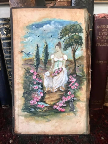 MKM 'Elyse, friend to Flora and Fauna'  Original Painting on Book Cover
