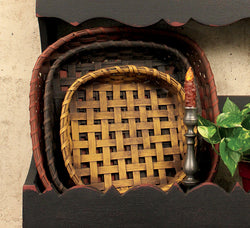 BG-S3 Set of 3 Flat Baskets - Allow 3 to 4 weeks for delivery