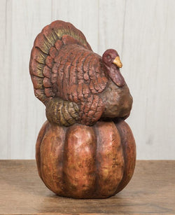 RA-TP Paper Mache Turkey on Pumpkin