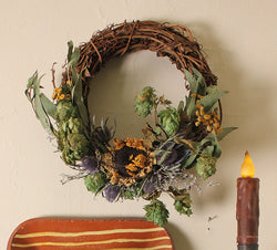 CD-W15 Grapevine Wreath with Dried Naturals