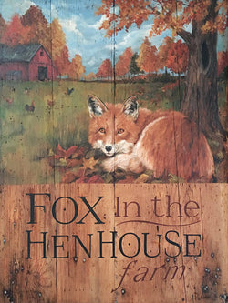 CWP-1484 Fox in the Hen House Farm Board Sign
